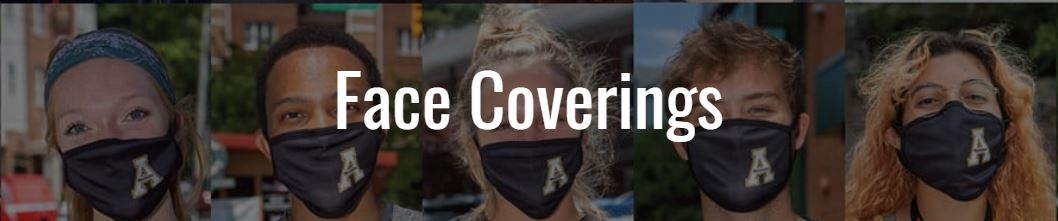 APPSTATE STUDENTS WITH FACE COVERING SWAG