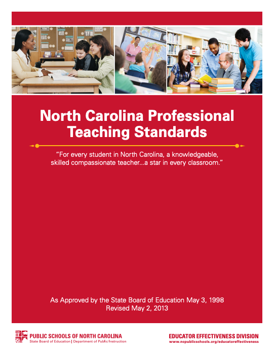 NC Professional Teaching Standards cover image