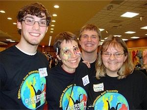 students at diversity celebration