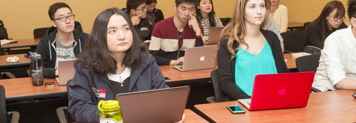 Students at professional development